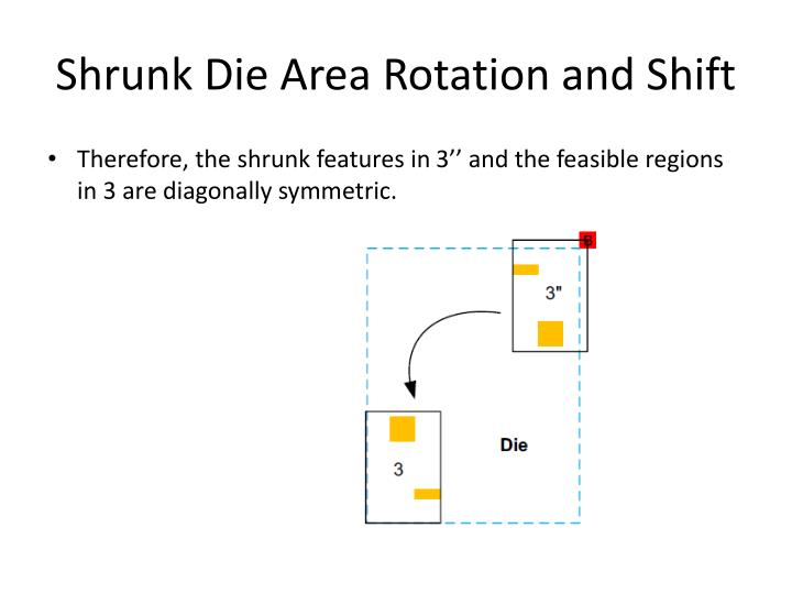 Shrunk Die Area Rotation and Shift
