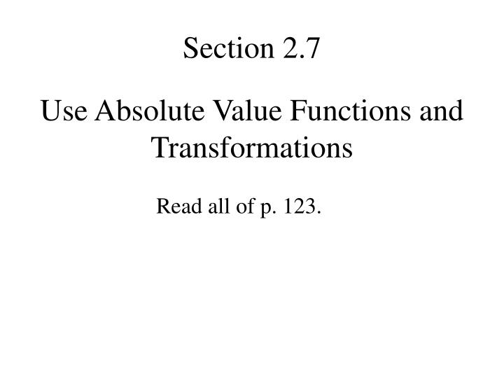 Section 2.7