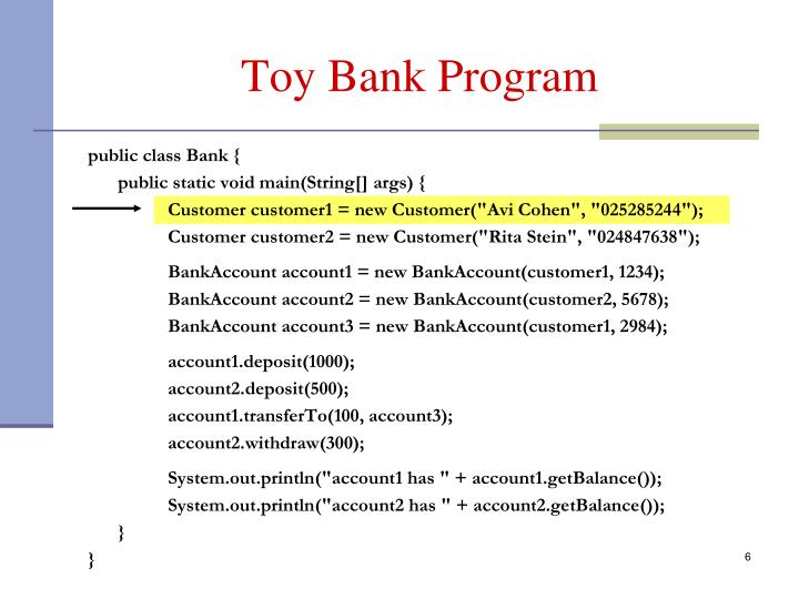 Toy Bank Program