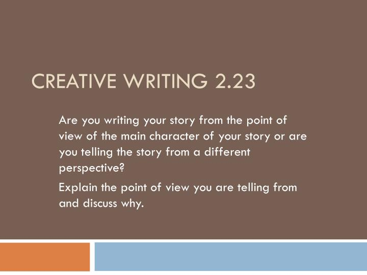 Creative writing 2 23