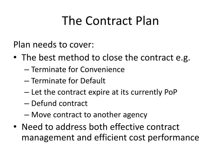 The Contract Plan