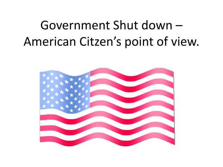 government shut down american citzen s point of view