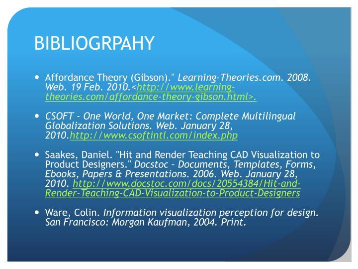 BIBLIOGRPAHY