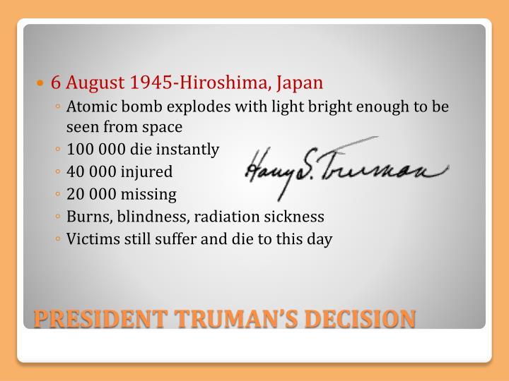 6 August 1945-Hiroshima, Japan