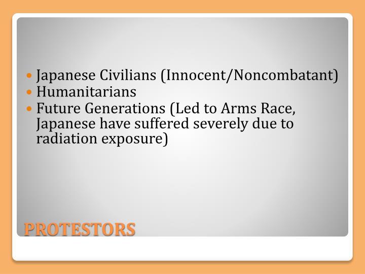 Japanese Civilians (Innocent/Noncombatant)
