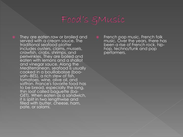 Food's &Music