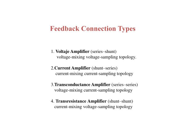 Feedback Connection Types