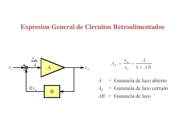 Expresion General de Circuitos Retroalimentados