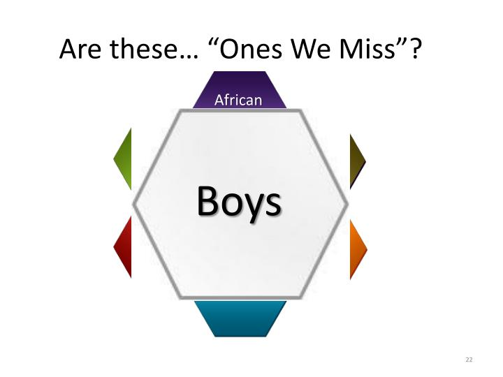 "Are these… ""Ones We Miss""?"