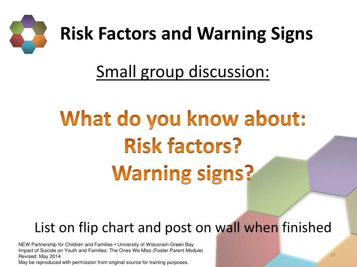 Risk Factors and Warning Signs
