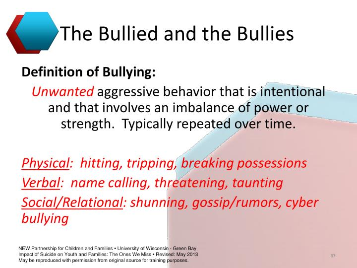 The Bullied and the Bullies
