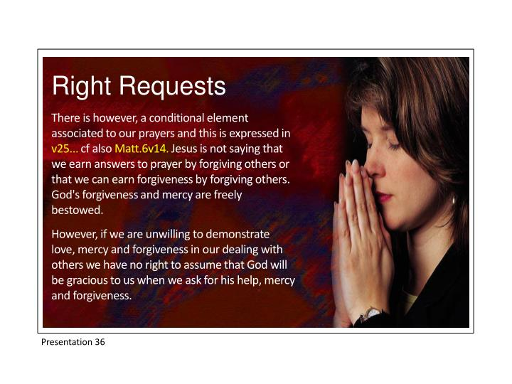 Right Requests