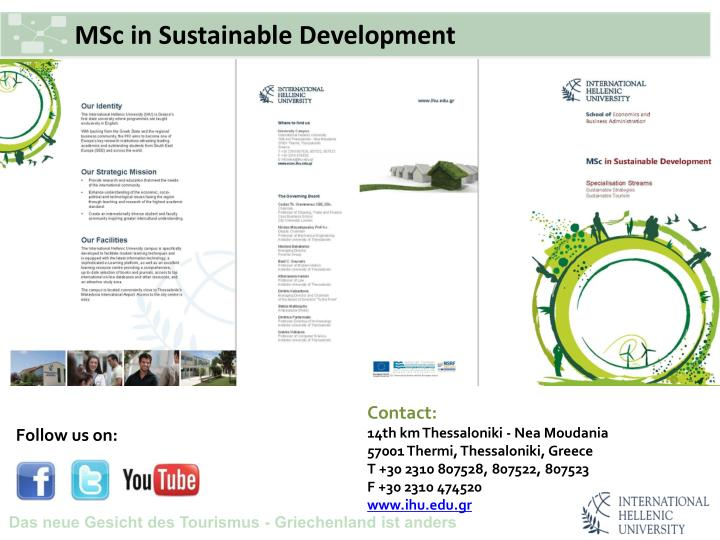 MSc in Sustainable Development