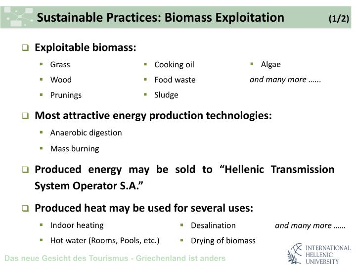 Sustainable Practices: Biomass Exploitation