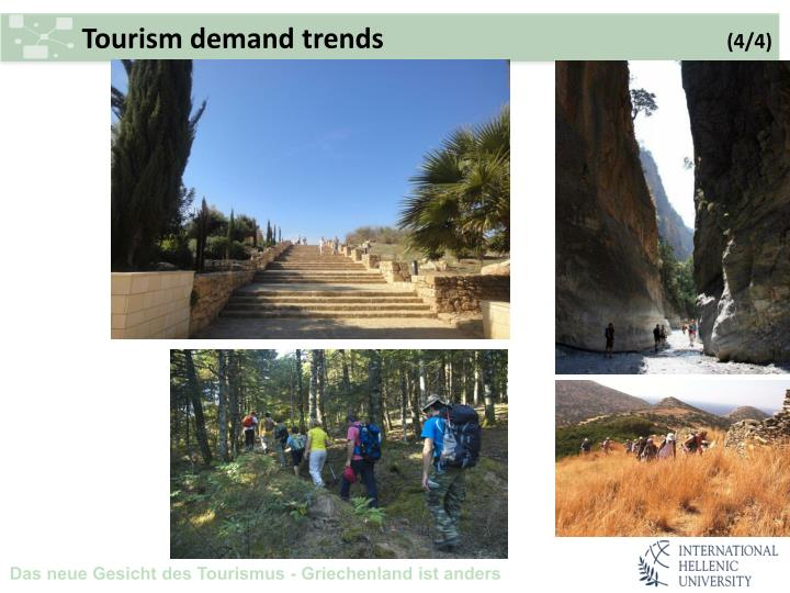 Tourism demand trends