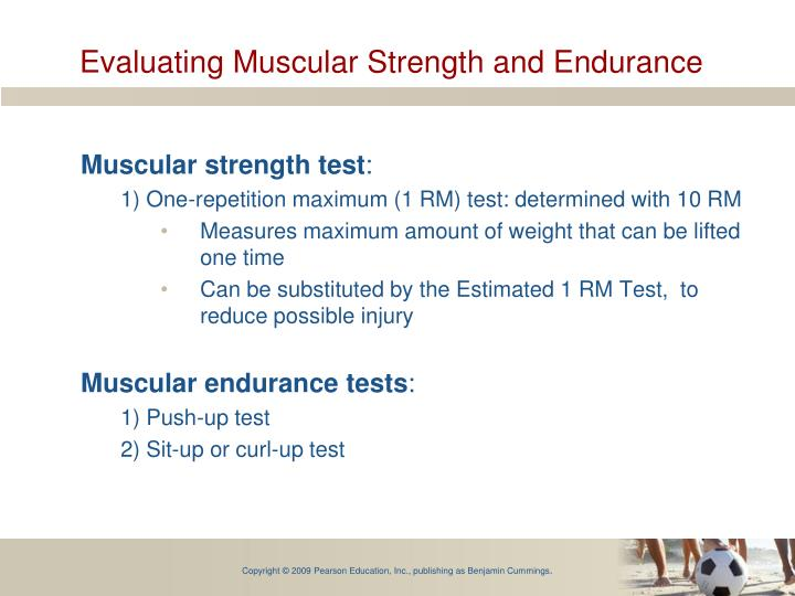 Evaluating Muscular Strength and Endurance