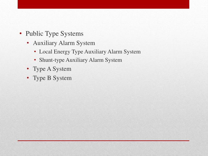 Public Type Systems