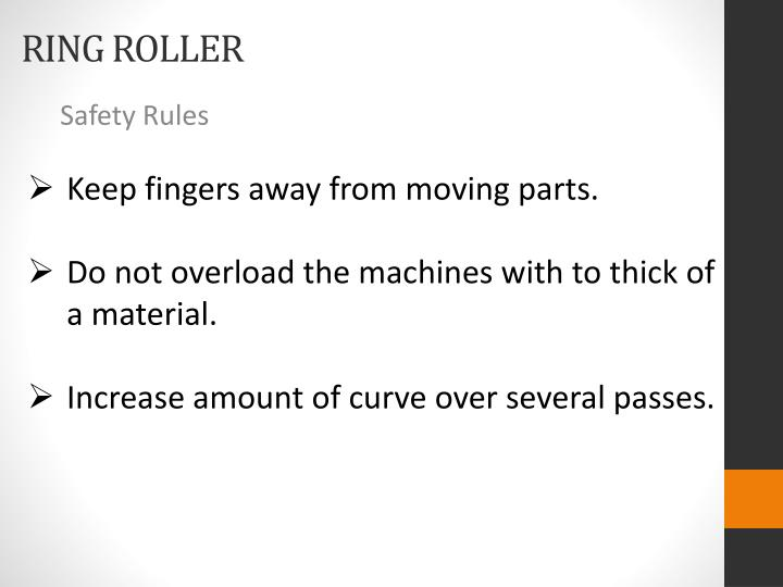 Keep fingers away from moving parts.