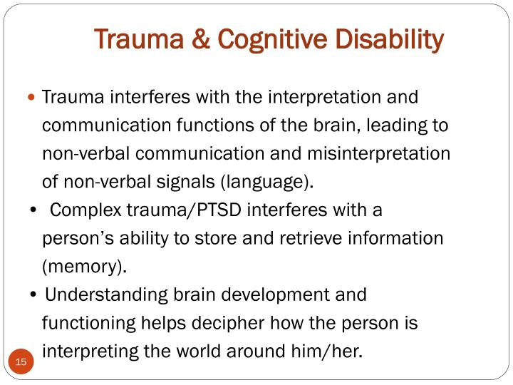 Trauma & Cognitive Disability