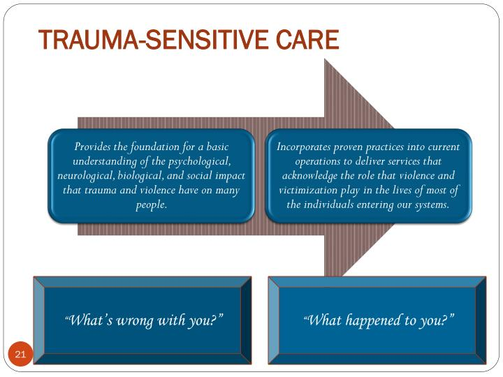 TRAUMA-SENSITIVE CARE