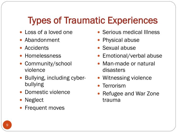 Types of Traumatic Experiences