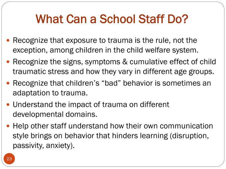 What Can a School Staff Do?