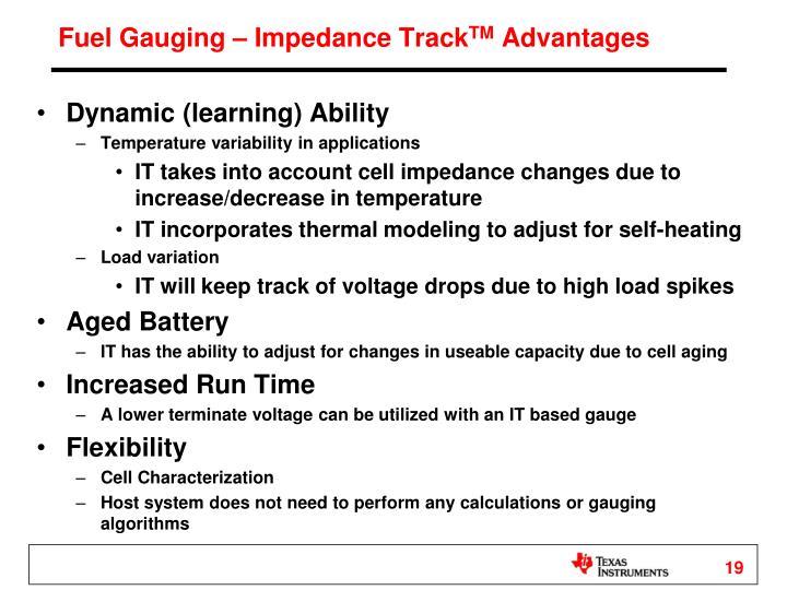 Fuel Gauging – Impedance Track