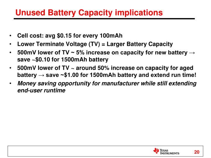 Unused Battery Capacity implications