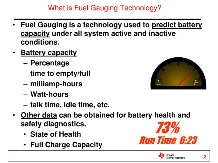 What is Fuel Gauging Technology?