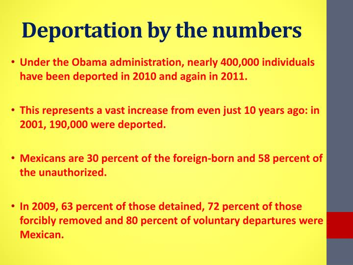 Deportation by the numbers