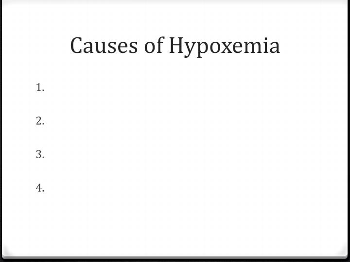 Causes of Hypoxemia