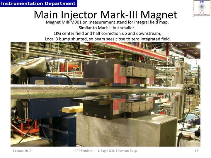 Main Injector Mark-III Magnet