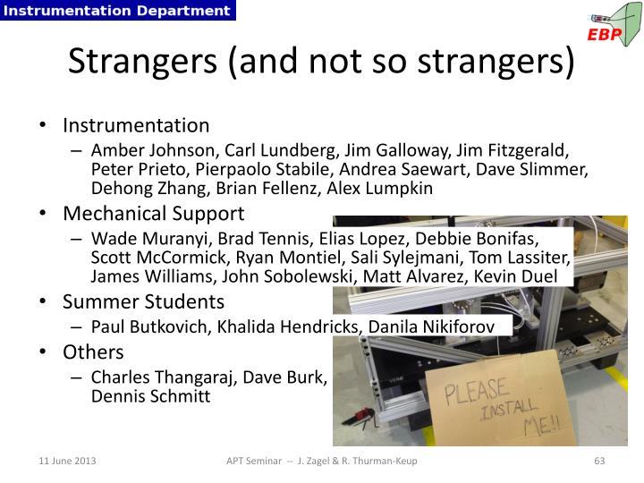 Strangers (and not so strangers)
