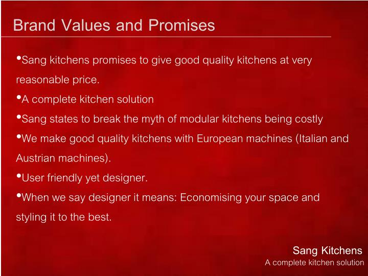 Brand Values and Promises