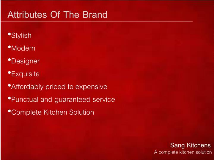 Attributes Of The Brand