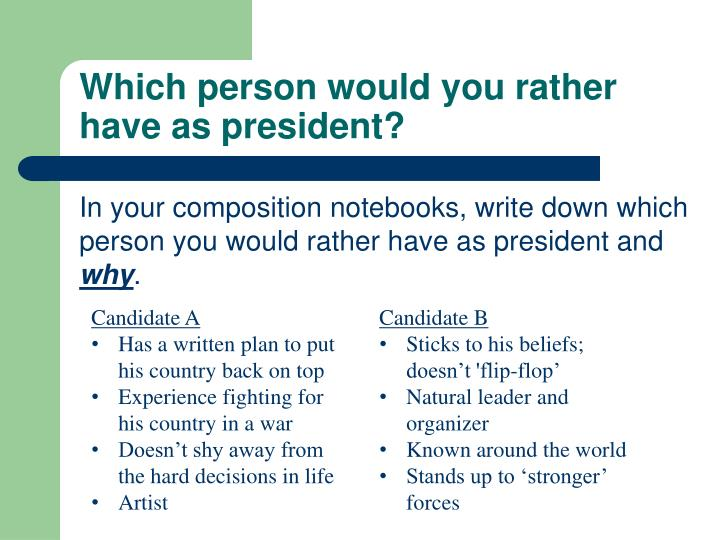 Which person would you rather have as president
