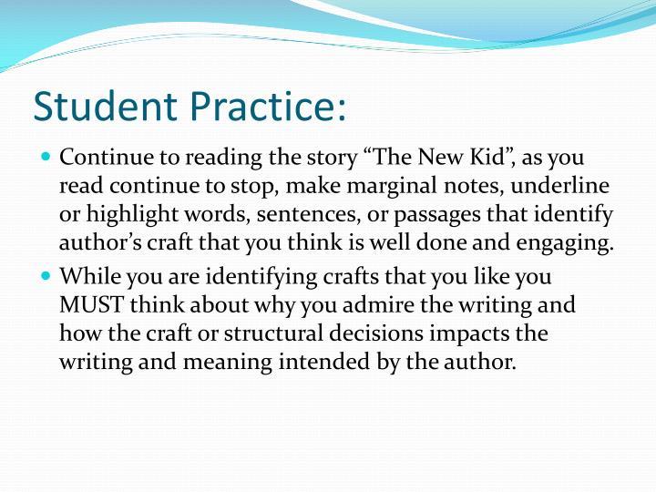 Student Practice:
