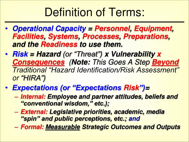 Definition of Terms: