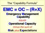 the capability formula