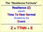 the resilience formula