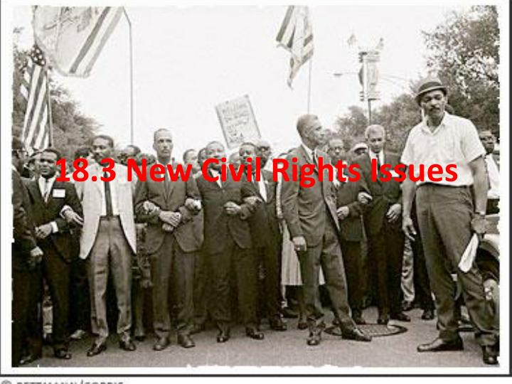 18 3 new civil rights issues