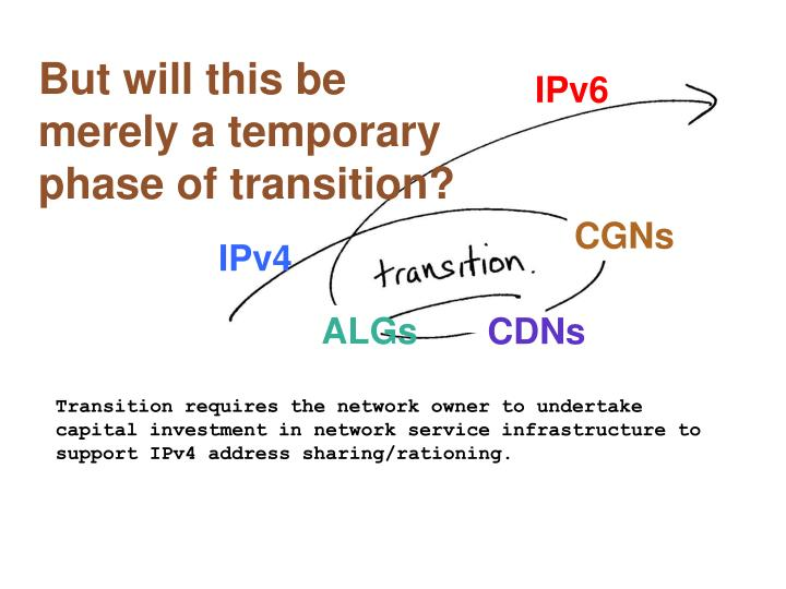 But will this be merely a temporary phase of transition?