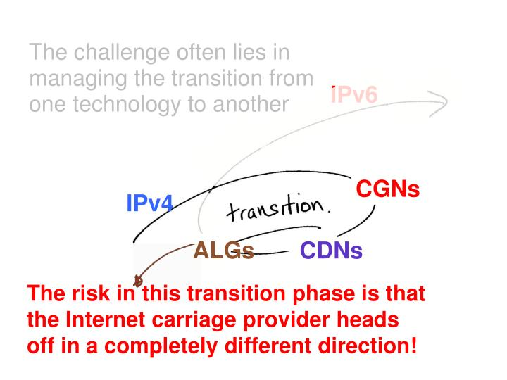 The challenge often lies in managing the transition from one technology to another