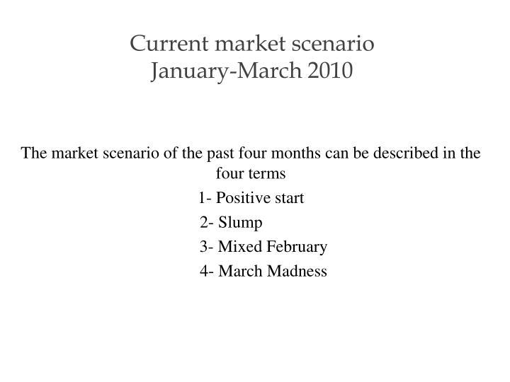 Current market scenario