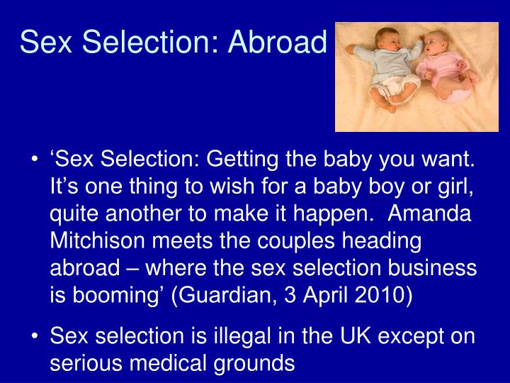 Sex Selection: Abroad