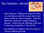 sex selection abroad