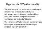 hypoxemia v q abnormality