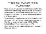 hypoxemia v q abnormality v q mismatch