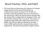 shunt fraction fio2 and pao2