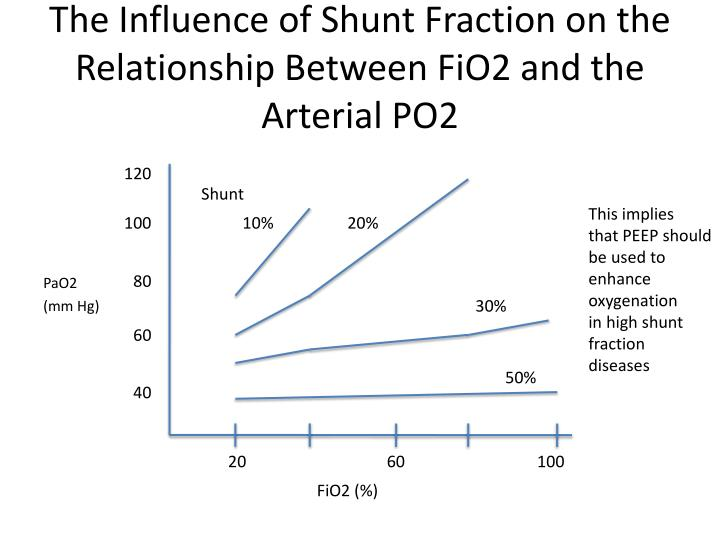 The Influence of Shunt Fraction on the Relationship Between FiO2 and the Arterial PO2